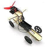 DIY Assembled Wooden Wind Car Puzzles Toys Science Model Toys For Kid Learning 4WD Smart Robot Car Tank Chassis RC Toy