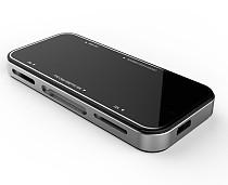 1pc High Speed Multi Memory Card Reader USB 2.0 SY-631 for SD SDHC DV T-Flash Micro SD(TF) Mini SD M2 MS