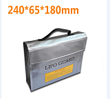 High Quality Fireproof Explosionproof RC LiPo Battery Safety Bag Safe Guard Charge Sack 240*65*180 mm L M S size