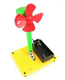 Four-Leaf Multicolor Plastic Propeller Fan Model DIY Science and Technology Paddle Fan Windmill Model Puzzle