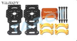 F10267 2 Sets Tarot TL96026-02 25MM Diameter Carbon Fiber Models Motor Mounts Color Orange