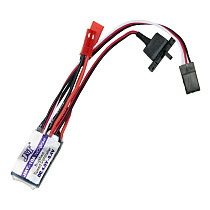 JMT High Quality RC Car 10A Brushed ESC Two Way Motor Speed Controller No/With Brake for 1/16 1/18 1/24 Car Boat Tank
