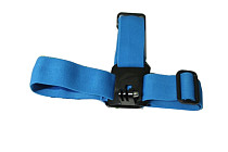 Camera Helmet Head Strap Belt Mount Fixed Headband Size Adjustable Anti-Skid Blue For Gopro Hero HD 2 3 GITUP GIT1 GIT2