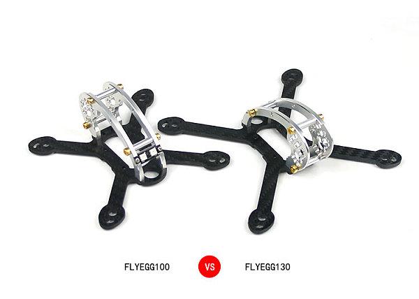 Fly Egg 100/130 KIT Body Frame for Mini Indoor Brushless Drone Quadcopter
