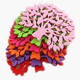 30Pcs Tree Shape Coffee Tea Bar Cup Mat Pad Cup Coaster Cushion Decoration Protector