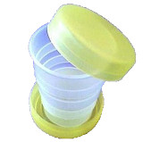 1pc Tourism Supplies Plastic Portable Foldable Cups Travel Cup Red/ Green Optional