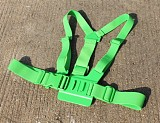 Adjustable Pectoral Girdle Chest Fitted Shoulder Strap Belt Mount Harness Green for Gopro HD Hero 3 2 Camera GITUP GIT1