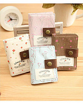 Elegant Country Style Canvas Credit Business ID Card Bag Pocket Wallet Holder Coin Pouch 20 slots
