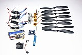 4 Axis Foldable Rack RC Quadcopter Kit with KK V2.3 Circuit Board +1000KV Brushless Motor + 10x4.7 Propeller + 30A ESC