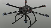 Full Folding Hexacopter Aircraft Frame Aluminum Tubes 6-Axis hexa Copter UFO Kit Tarot FY680 TL68B02