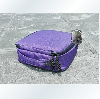 2pcs Camera Space 20*20*7 Weather Resistant Soft Case Storage Bag for Gopro Hero 3+ 3 2 Color Purple +