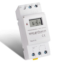 SINOTIMER Weekly 7 Days Programmable multifunction Digital Guide Rail Timer Switch  Controller for Street Lamp