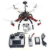 4-axis Aircraft Quadrocopter Helicopter RTF F450-V2 Frame GPS APM2.8 Aerial FPV PTZ AT10 TX Battery
