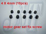 F01523, 4mm X 4mm motor gear set fix screw screws For Align T-rex Trex 500 motor gear