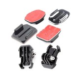 Flat/Curved 3M Adhesive Sticky Mount + Quick-Release Buckle Mount Base for Gopro hero 3 2 1 Camera