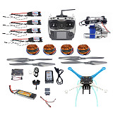 High-powered DIY GPS Drone APM GPS M8N 700KV 30A 4400MAH 30C 4-Axis Aircraft Racer with Camera Gimbal PTZ