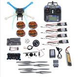Full Kit DIY GPS Drone APM2.8 500mm Multi-Rotor with 700KV Motor 30A ESC 6CH 9CH Transmitter 11.1V 4400MAH Battery F0819