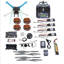 Full Kit DIY GPS Drone APM2.8 500mm Multi-Rotor with 700KV Motor 30A ESC 6CH 9CH Transmitter 11.1V 4400MAH Battery F0819