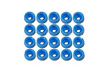 F07296 Tarot 20 Pcs M2 Spacer Washer TL2818-01 Blue for GB Screws RC Helicopter Parts