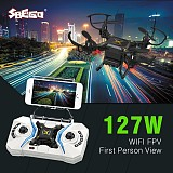 SBEGO 127W Smart Stretch RC Mini Pocket Drone 0.3MP Camera FPV Realtime WIFI 4 CH 6-Axis RC Toy Helicopter Quadcopter