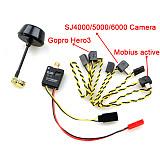 FPV 5.8ghz 5.8G 600mW 32 Channel Mini Wireless Audio Video AV Transmitter for Gopro Hero3 Mobius808 SJ4000 SJ5000 GITUP