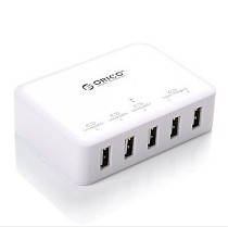 AB0050 ORICO DCAP-5S 40Watt 5 Ports USB AC Wall Charger With 5V 2.4A Ports and 5V 1A Ports for Smart Phone White