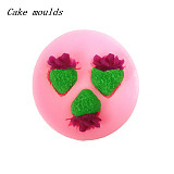 F15225 Fruit Sweet Strawberry Shape 3D Silicone Cake Mold Decorating Fondant Soap Moulds Baking Tools Cookies Molds DIY