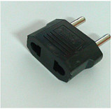 Universal Flat US to Round EU Power Plug Adapter Converter for Europe countries Travel Charger