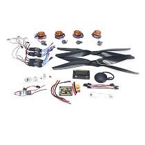 RC HexaCopter 4-axis Aircraft Electronic:700KV Brushless Motor 30A ESC BEC 1555 Propeller GPS APM2.8 Flight Control