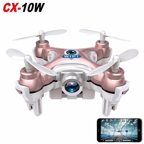 RC Quadcopter Cheerson CX-10W CX10W Wifi FPV 0.3MP Camera LED 3D Flip 4CH CX10 Update Version Mini Drone BNF Helicopter