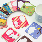 50Psc Cute Illustration Style Cardboard Paper Coffee Tea Bar Cup Mat Pad Cushion Message Board