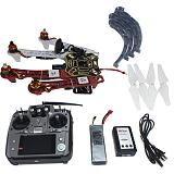 4-axis Aircraft RC Quadrocopter Helicopter RTF F450-V2 Frame GPS APM2.8 AT10 TX/RX Battery