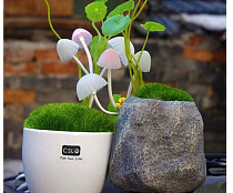 PVC Energy-saving Mushroom Color Changing LED Night Light Control Socket Bonsai Lamp Amazing Gift