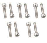 10Pcs Stainless Steel 304 DIN912 M2.5*22 Hex Socket Cap Screw