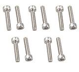 10Pcs Stainless Steel 304 DIN912 M2.5*22 Hex Socket Cap Screw