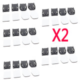 10X 2Pcs Flat + 2Pcs Curved Adhesive Sticky Mount For GoPro Hero 2 3 3+ 4 Camera DV XiaoMi Yi SJ4000 SJ5000 Cam