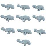 10Pcs/Lot Manatee Infuser Silicone Loose Tea Leaf Strainer / Health Herbal Spice Filter / Essential Artifac Filter
