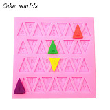 F15230 Hot DIY Bakeware Letter Word 3D Liquid Chocolate Fondant Cake Mold Cookies Moulds Lase Silicone Sugar Craft Mat M