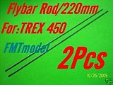 F00139-2 F-HS1264 Flybar Rod 220mm For ALIGN T-REX T-REX 450 PRO SPORT SE V2 Rc Helicopter Helicopter