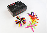 7 pairs Kingkong 5040 4-blade CW CCW Propeller 5 inch Props 5x4x4 for MINI Quadcopter Racing Drone Multi-color