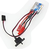 RC 10A Brushed ESC Two Way Motor Speed Controller With/Without Brake For 1/16 1/18 1/24 Car Boat Tank