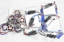 F05422-A Platinum-30A-Pro 2-6S 30A Speed Controller ESC + 750KV Brushless Disk Motor high Thrust With Mount