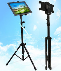 S00833 Portable Lightweight Retractable Tablet Tripod Floor Stand for 7-11 Inches Tablet PC