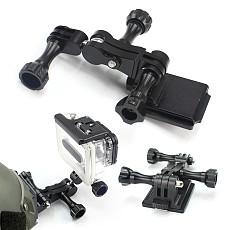 OEM Universal Adapter+Helmet Aluminum Fixed Mount+ Screw Nut parts for GOPRO3+/4/5/ SJ/Xiaomi Yi/GitUp Sports Camera