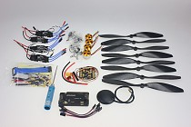 F02015-H 4 Axis Foldable Rack RC Helicopter Kit APM2.8 Flight Control Board+GPS+1000KV Brushless Motor+10x4.7 Propeller+