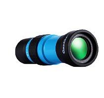 Qanliiy 10-30X25 Mini Handheld HD High Power Zoom Monocular Telescope Adjustable Focus for Camping Hunting