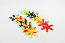 8 pairs Kingkong 6-blade CW CCW Propeller 4 inch Props 4x4x6 for MINI Quadcopter Racing Drone Multi-color