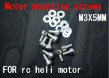 F01524, M3 X 5MM motor mounting screws screw For mounting screws heli 450 500