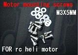 F01524, M3 X 5MM motor mounting screws screw For mounting screws heli 450 500