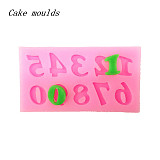 F15234 Fondant Cake Baking Mold Tool Alphanumeric Letter Words Shape Silicone 3D Modeling Decoration DIY Soap Candy Ice